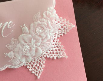 Card, Parchment Craft, pergamano, June, birthday, wedding, personalised