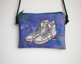 Shoulder bag, crossbody bag, Sneakers Shoes, little bag, Sneakers Shoes bag, Printed bag