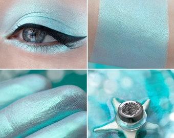 Eyeshadow: Sea Firefly - Mermaid. Delicate turquoise satin eyeshadow by SIGIL inspired.
