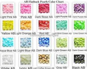 Choose Color 100 8mm AB Flatback Faux Half Round Imitation Pearls Scrapbooking Embellishments Diy Deco Kit Kawaii Cabochons