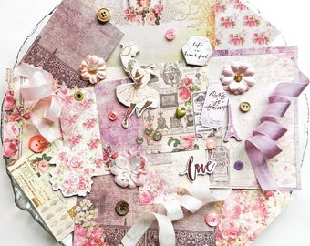 Inspiration Kit / Prima Tales of You & Me / Scrapbook Embellishment / Scrapbooking Supplies / Prima Flower / Shabby Chic / Pocket Journal