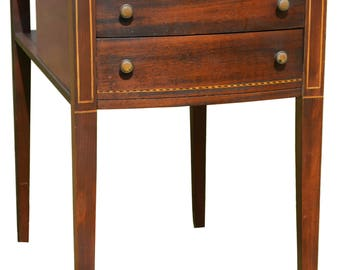 2947 Two Drawer Mahogany End Bedside Stand