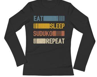 Eat Sleep Suduko Repeat Funny Vintage Retro Gift