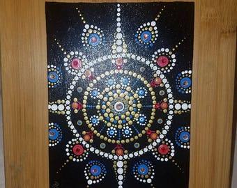 "5"" x 7"" Mandala Dot Art Painting"