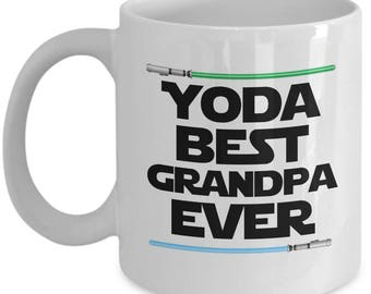 Yoda Best Grandpa Ever Star Wars Birthday Funny Nerd Gift for family
