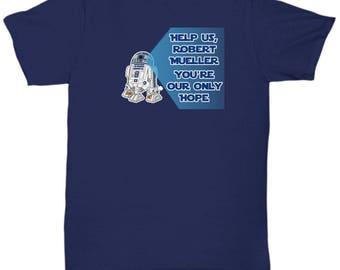 Help Us Robert Mueller Only Hope Anti Trump Resistance Resist Gift Shirt Star Wars Rebel