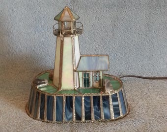 Nightlight - Stained Glass Lighthouse