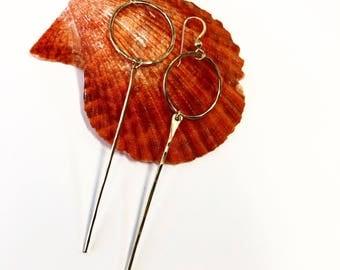 Hammered spike hoop earrings
