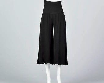 Black Gaucho Pants Etsy