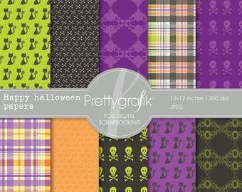80% OFF SALE Halloween digital papers scrapbook set - PGPSPK553