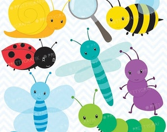 80% OFF SALE Bug clipart commercial use, vector graphics, digital clip art, digital images  - CL555