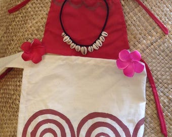 Baby Moana Set/Costume. Baby Moana Inspired Set. 1 Top & 1 Little Sarong Or Necklace, Flower Or Full Set. Babies, Toddlers, Birthday Party.
