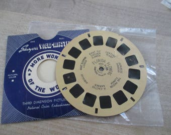 Vintage, Antique Viewmaster reels -Florida Flowers reel 158 - No longer produced - from collection of over 100 reels.