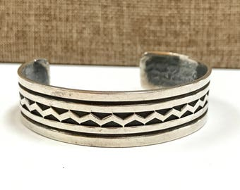 Vintage Native American Sterling Silver Cuff Bracelet!!!!  Free US Shipping!!!