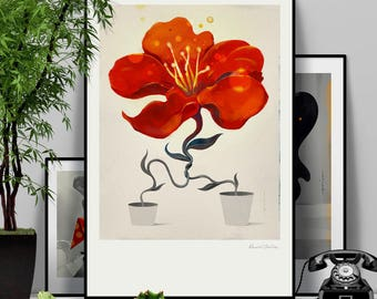 Marriage Theory. Illustration art giclée signed poster print on archival paper.
