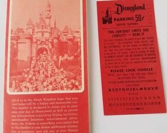 1970 Vintage Disneyland Map