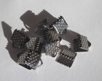 10 claws (126) 6 mm hematite color metal Ribbon-