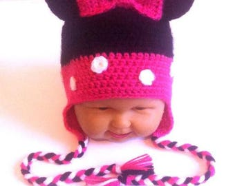baby girl hat, wool baby Hat