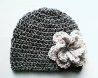 Baby bonnet, baby girl Hat Handmade wool