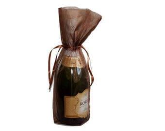Chocolate Bottle / Wine Organza Gift Bag