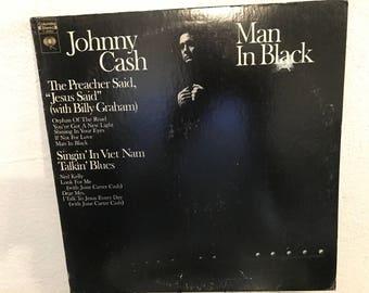 "Johnny Cash - ""Man In Black"" vinyl record"