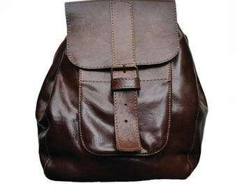 ON SALE Backpack,handmade ,100% Natural Cow Leather