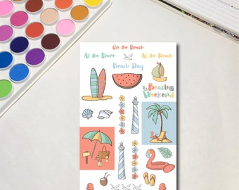 Beach Day Planner Sticker Sheets, The Ones for a Beach Day, Weekend at the Shore