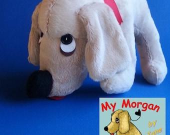 My Morgan Plush Stuffed Basset Hound dog by Jane