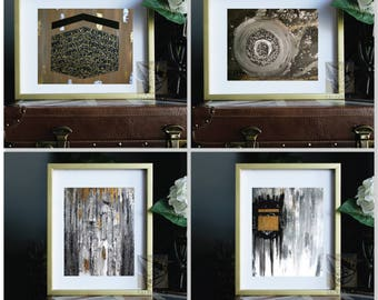 Set Of 4 Modern Islamic Prints Gold Collection Modern Islamic Calligraphy Islamic Wall