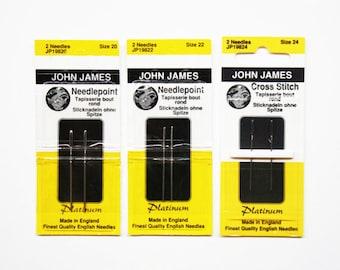 John James Platinum Needles 4.90 Each, John James Needles, Needlework Needles, Needles, Cross-Stitch Needles, John James Tapestry Needles