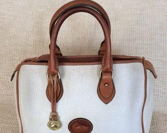 15% SUMMER SALE Genuine vintage DOONEY & Bourke white leather satchel bag Awl speedy