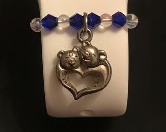 Apple Watch Charm/ Slide on Jewelry/ Accessory/ Sweet Little Piggy Love Heart
