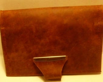 leather top stub checkbook cover