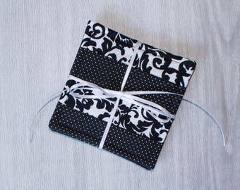 Black and White Cloth Drink Coasters - Cloth Coasters - Fabric Coaster Set