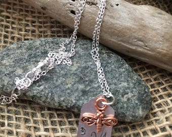 Bee You Stamped Chain Necklace