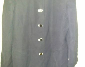 Vintage Ellen Tracy women's navy blue blazer size 14 or 16
