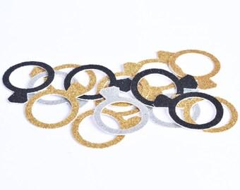 Wedding Rings Table confetti, wedding party table scatters, wedding table scatters, engagement party, table decorations, ring table scatters