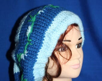 beret hot elastic two blue