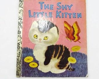 Vintage The Shy Little Kitten Little Golden Book Childrens Book 1995