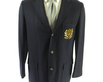 Vintage 50s Musica Omnibus Sport Coat Mens 42 Blazer Jacket 3 Button Union Made [I05K_2-8]