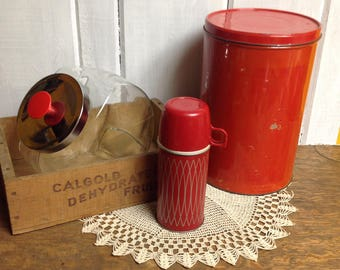 Vintage small 10oz red Thermos