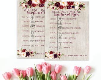 wedding timeline printable timeline custom timeline weekend itinerary itinerary template order