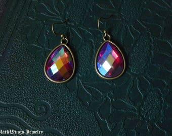 Bronze red earrings