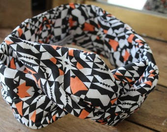 This retro - headband - bow - XL-geometric headband