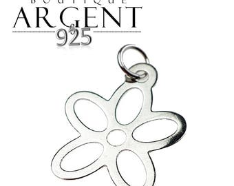 Sterling Silver 925 22mm flower charm pendant