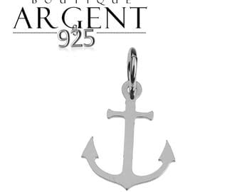 Anchor charm 17 mm X 10.6 mm Sterling Silver 925 for jewelry making