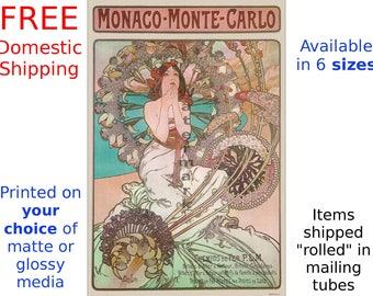 Alphonse Mucha: Monaco-Monte-Carlo - Vintage Art Nouveau Poster (155230246)