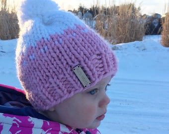 Toddler Warm Winter Pom Hat Readt To Ship