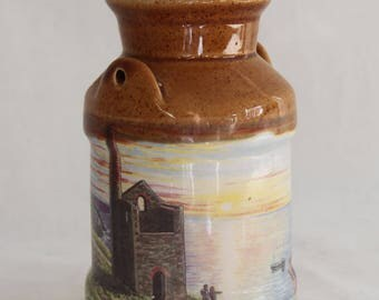 Vintage Presingoll Pottery Cornish Tin Mines Storage Jar Milk Churn Made in Cornwall Vintage/Retro/Rustic Kitchenware