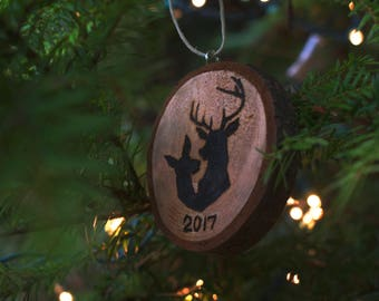 Stag and Doe Ornament